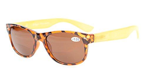 Eyekepper Bifokal Sonneleser Klein Größe Bifocal Sonnenbrillen einschließen Fall und Putztuch Braun Linse +3.0