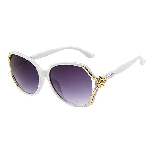 Lazzboy Herren Damen Rose Big Frame Retro Vintage Sonnenbrillen Brillen Sonnenbrille Polarisiert Augenschutz Brille, Schwarz Für Fahren, Angeln, Reisen, Outdoor(F)