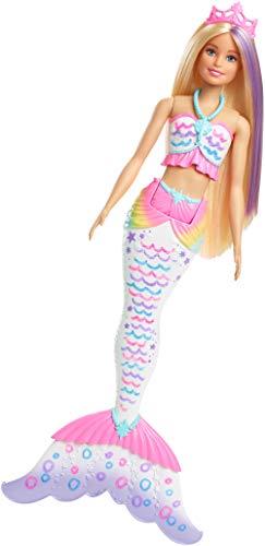 Barbie GCG67 - Crayola Farbzauber Meerjungfrau Puppe mit abwaschbaren Crayola Farbstiften, Puppen Spielzeug und Puppenzubehör ab 3 Jahren