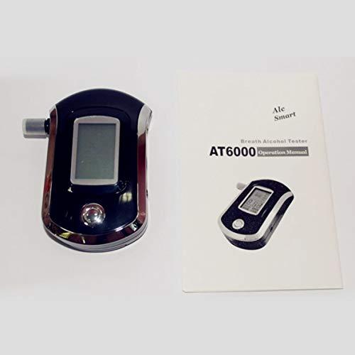 Heaviesk Detector de Alcohol con alcoholímetro y probador de Alcohol Mini Police con retroiluminación...