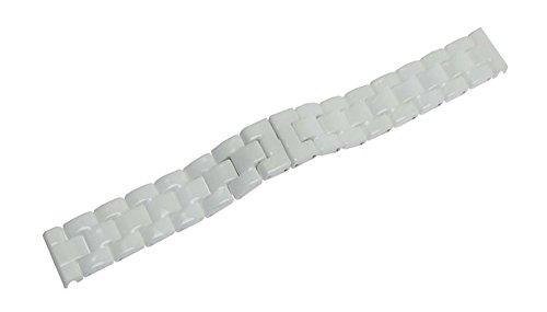 rechere-ceramica-pulsera-reloj-banda-correa-despliegue-invisible-doble-cierre-plegable-color-blanco