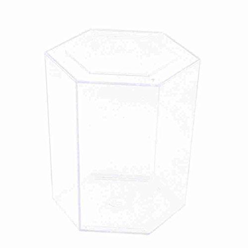 Sechseck Aquarium (Durchsichtiger Kunststoff 12cm hoch Sechseck geformte Betta-Fisch-Behälter-Aquarium)
