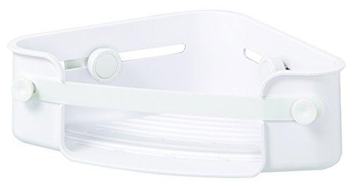UMBRA Flex Gel-LockTM Corner Bin. Panier d'angle pour douche Flex Gel-Lock. Etagère pour coins avec technologie de ventouses brevetée Gel-Lock. Coloris Blanc.