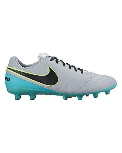 Nike Tiempo Genio Ii Leather Ag-Pro, Scarpe da Calcio Uomo Gris (Wolf Grey / Black-Clear Jade)