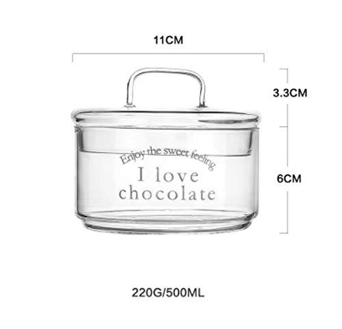 DXXMD 500 Ml Kreative Nordic Glas Frischhaltedose Gewürze Obst Keks Container Cookies Muttern Tank Kuchen Kann Küche Sortierorganisator Werkzeuge (Cookie Display-boxen)