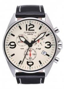 Torgoen T16102 - Reloj de caballero de cuarzo, correa de acero inoxidable color varios colores