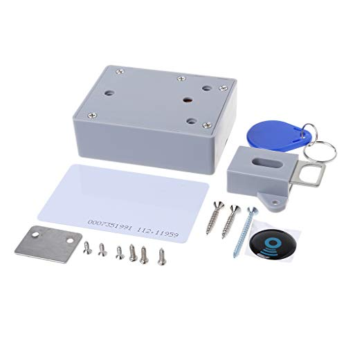 Kalttoy IDIY-Elektronischer Schrank mit IC-Kartensensor, digital, RFID-Schloss, Versteckte Smart-Schlösser