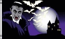Halloween Haunted House Fledermaus und Dracula 5ft x 3ft Flag Banner Dekoration mit versandkostenfrei innerhalb UK House Of Dracula