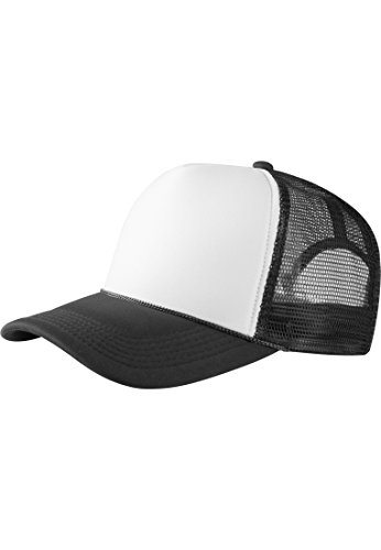 MASTERDIS Baseball Cap Trucker high profile, black/white, One Size