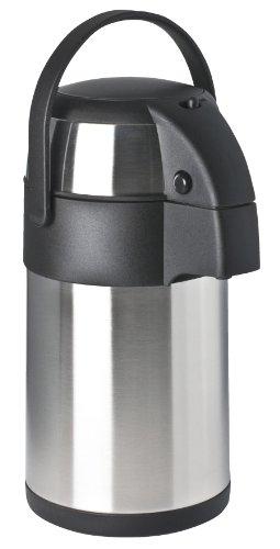 Airpot Glas (Focus Foodservice Edelstahl Vakuum Isoliert Push Button Airpot 2.3 Quart Edelstahl / Schwarz)