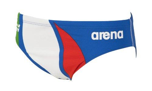 Arena Extension Line Brief Costume Piscina Uomo, Collezione Italia per la Federazione Italiana Nuoto (FIN), Blu, 70