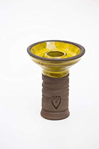 Cazoleta Phunnel de la marca Walden Modelo Vili - Color: Amarillo 10 cm para Shisha Cachimba
