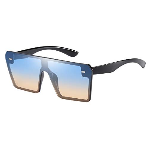 Lazzboy Mode Mann Frauen Oversize Square Sonnenbrille Brille Shades Vintage Retro Style(D)