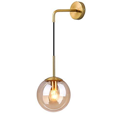 HJXDtech Industrial Vintage Loft Bar Lámpara de pared con globo de 20 cm Luz de la lámpara de lectura...