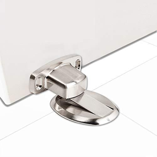 PHOEWON Türstopper Magnet Ohne Bohren Edelstahl Metall Türstopper Tür Stopper Boden, Türhalter (Silber) -