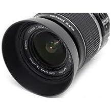 Maxsima EW-60C - Pare-soleil compatible avec Canon EF 28–80mm f/3.5–5.6II, EF 28–80mm f/3.5–5.6III, EF 28–80mm f/3.5–5.6IV, EF 28–80mm f/3.5–5.6V USM, EF 28–90mm f/4.0–5.6, EF 28–90mm f/4.0–5.6II, EF 28–90mm f/4.0–5.6USM, EF-S 18–55mm f/3.5–5.6