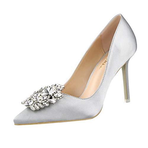Damen Stiletto Pumps Strass High Heels Pumps Party Hochzeit Büro Schuhe (Süß Aber Heiße Kostüm)