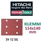 Hitachi–753058–Papier de verre abrasif kilomètres 114x 140mm Grain 240Clip-on (10Ud.)