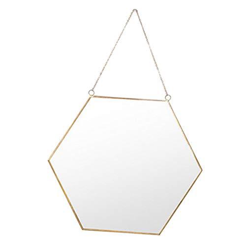 Homyl Sechskant Spiegel zum Aufhängen - L