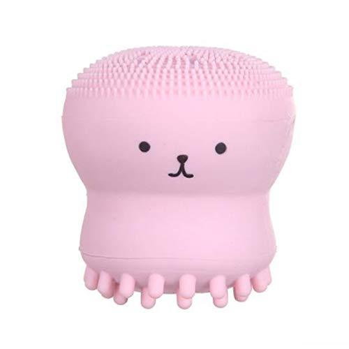 WEIHAN Octopus Schaumflasche Silikon Waschbürste Gesichtsreiniger Sprudelbad Waschbürste Sprudel Peeling Reinigungsbürste pink -