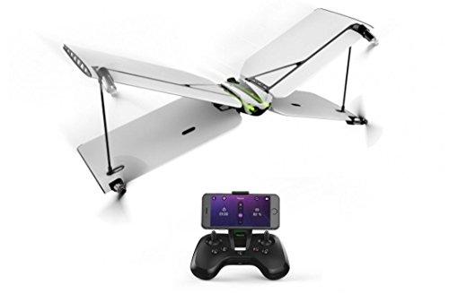 Parrot Swing - Dron 'dos en uno' cuadricóptero y avión (cámara 30 FPS, 30 Km/h, 8 minutos de vuelo, 100 metros de alcance, programable) + Mando Flypad