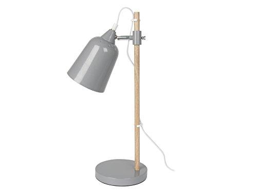 Present Time lm1236 Lampe de table Wood Like, métal, 25 W, E14, souris, 48,5 x 12 x 12 cm