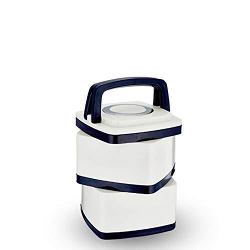 Riesen Weiße Trikot (xinrongqu Edelstahl Vakuumisolierte Lunchbox Mehrschichtige Lunchbox Doppelte Lunchbox 1-2L Zweischichtiges Weißes Vakuum)