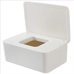 Ardentity Feuchttücherbox Aufbewahrungsbox Weiß Baby, Organizer Mit Deckel für Baby und Häuser