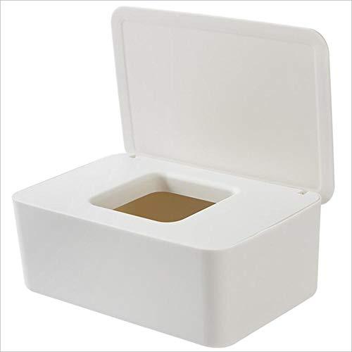 Papier Tücherbox Mit Deckel, Siegel Feuchttücher Box Passend Für Wohnzimmer Badezimmer Toilette Küche Haushaltswaren, 19x12,3 X7 Cm