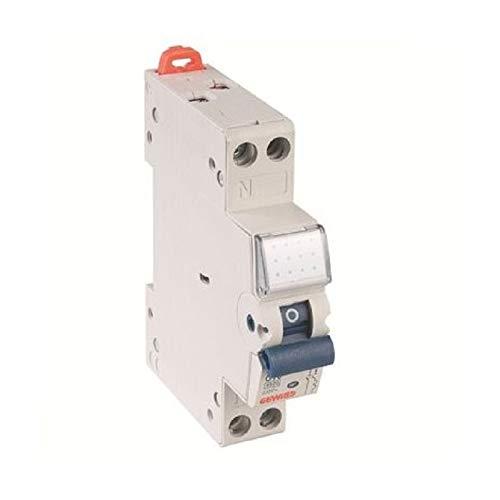 Disjoncteur phase/neutre à vis 16A MTC 45 courbe C GW90607 -GEWISS