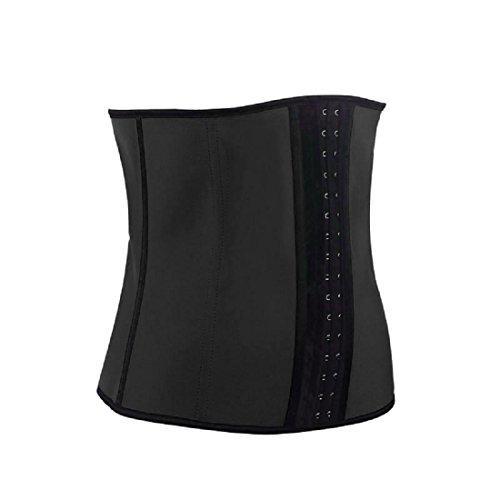 Amlaiworld Lady Shapewear,Lattice di gomma formazione della vita del corpo shapewear dello shaper ( Nero , S)