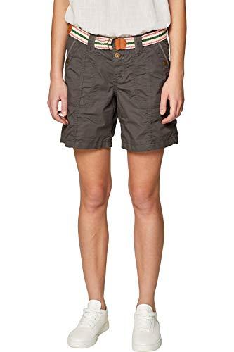 edc by ESPRIT Damen 039CC1C002 Shorts, Grün (Khaki Green 350), W36(Herstellergröße: 36) - Bermuda Short Khaki