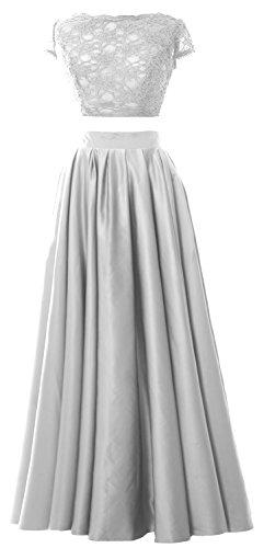 MACloth - Robe - Trapèze - Manches Courtes - Femme Blanc