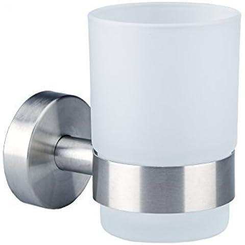 IPS-BW Axial-Serie - Bicchiere in vetro opalino e acciaio INOX