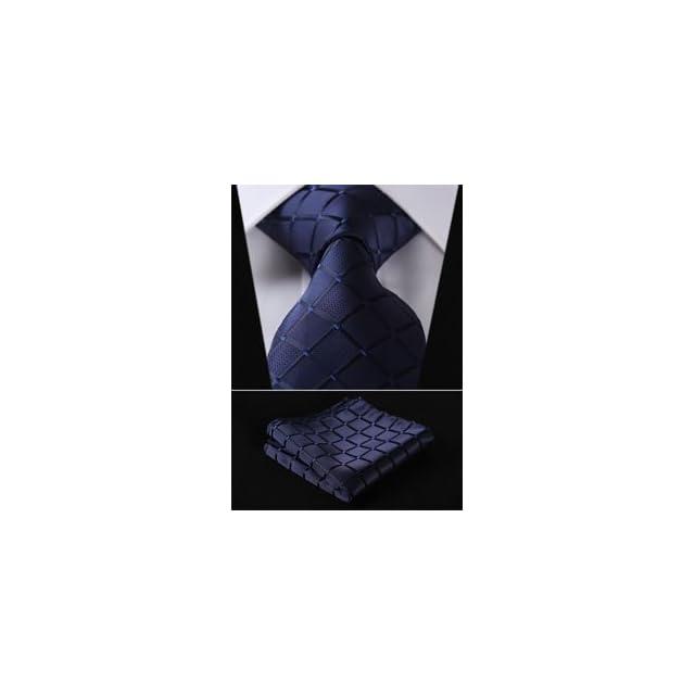 c143252968d07 ... Hisdern Lot 3 PCS Classique elegant Pour des hommes Ensemble de cravate  en soie Cravate &