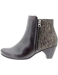 7b2d509ab Calzado Mujer Confort de Piel Piesanto 9880 botín Casual cómodo Ancho