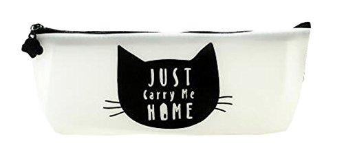 Cat Favors article Trousses Papeterie Sac pochette noir et blanc