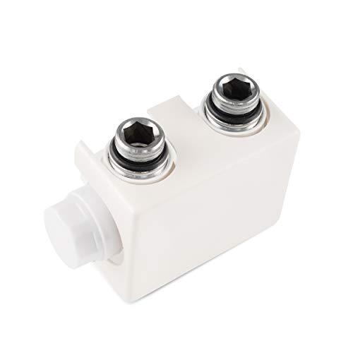 VILSTEIN Heizkörperanschluss, Multiblock für Bad-Heizkörper, Universal, Mittelanschluss, Weiß