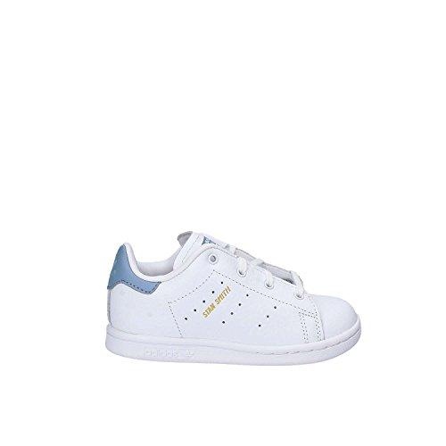 adidas Stan Smith i, Sneaker Unisex-Bimbi bianco (Ftwbla / Ftwbla / Azutac)