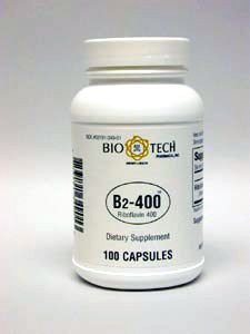 Bio-Tech Vitamin B2-400, Riboflavin 400 milligrams, 100 capsules, Soft and easy to swallow Test