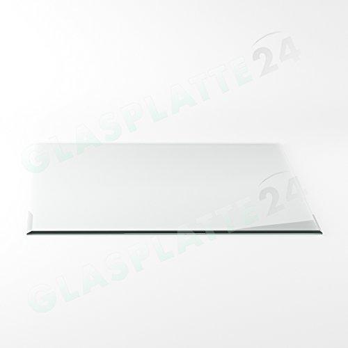 Preisvergleich Produktbild Funkenschutzplatte G20 Quadrat ESG 6mm x 1200mm x 1200mm mit 18mm Facette Glasplatte Bodenplatte Kaminplatte Funkenschutz Ofenplatte Kaminglas