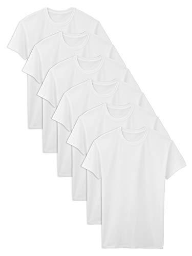Fruit of the Loom Herren Tall Size Crew-Neck T-Shirt Unterwäsche, White, XXX-Large Hoch (6erPack -