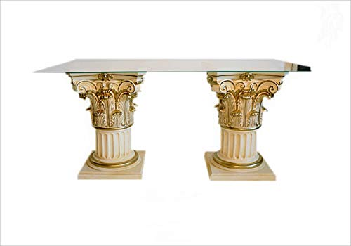 Antikes Wohndesign Esstisch Tafeltisch Küchentisch Säulentisch Konferenztisch Bürotisch Barocktisch