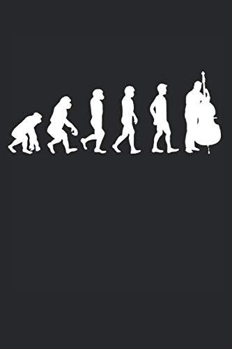 Evolution Geige: Musik Geschenke für Männer, Frauen & Kinder: Notizbuch DIN A5 I Liniert I 120 Seiten I Geschenkidee Bassgeige Streichinstrumente ... Musikband Violoncello Cello Cellist Musiker