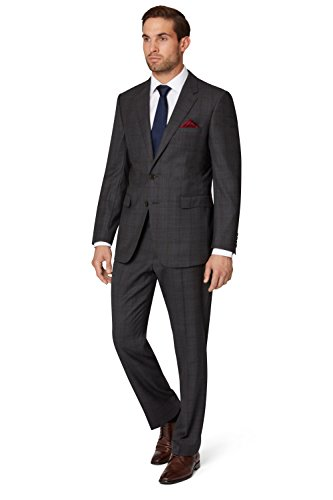 ermenegildo-zegna-cloth-mens-regular-fit-charcoal-overcheck-suit-jacket-46s-grey