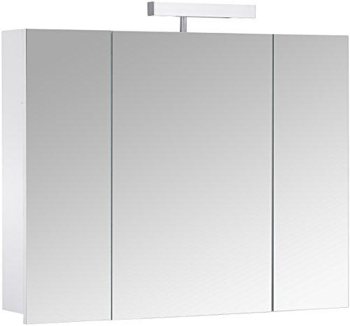 3-türiger Spiegelschrank - Superflach Berlin, 80 cm