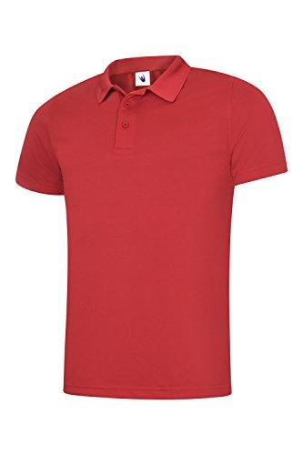 uc127Uneek 200gsm Polo da uomo super borsa frigo lavoro vestiti camicia Rosso