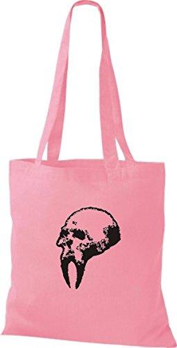 ShirtInStyle Stoffbeutel Skull Totenkopf Schädel diverse Farbe classic pink