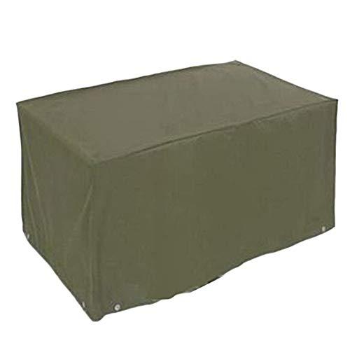 FCZBHT Couverture de Meubles Patio Grand Meubles Couvercle De Protection, (Vert) Convient À Ovale/Table Rectangulaire Garde poussière (Couleur : Green, Taille : 216 * 173 * 89cm)