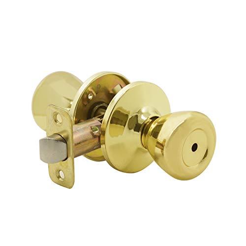 Probrico - Pomo para puerta de latón con cerradura de acero inoxidabl